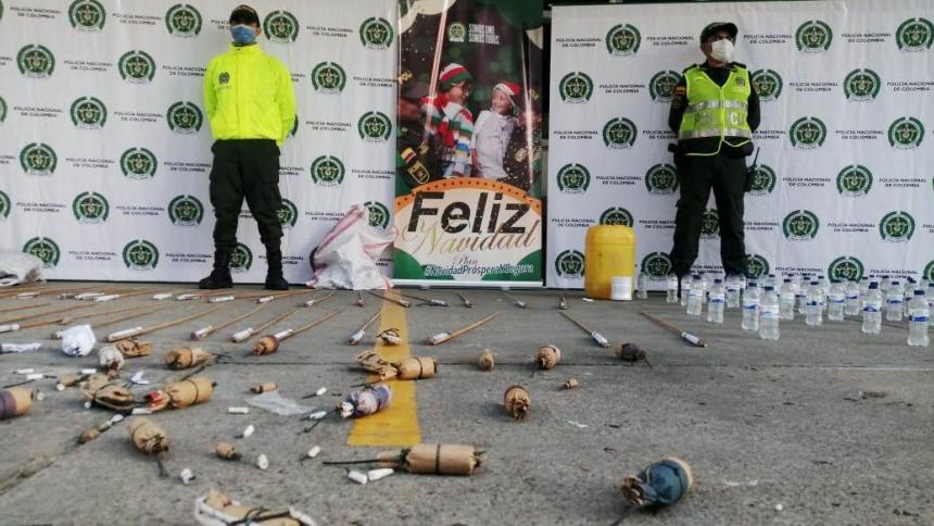 Policía desmantela fábrica clandestina de pólvora en Sucre