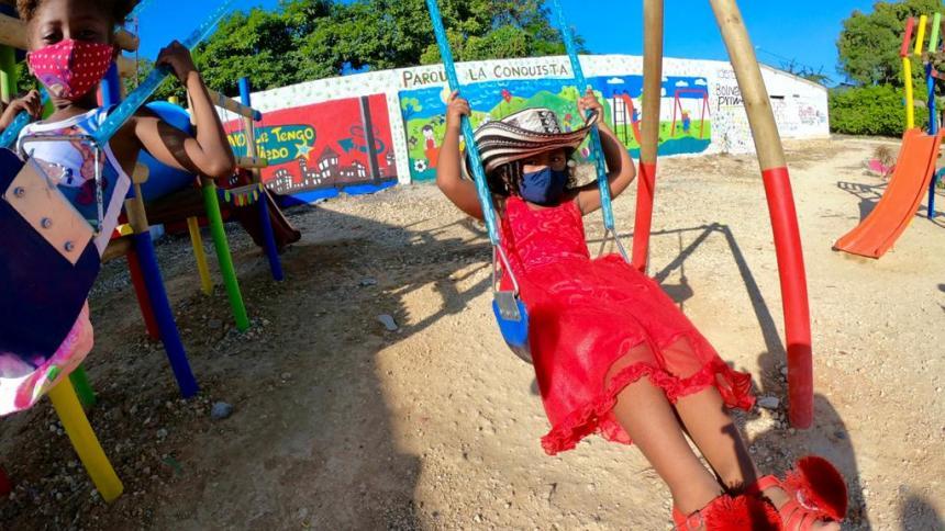 Santa Rosa de Lima y Turbaco estrenan parques