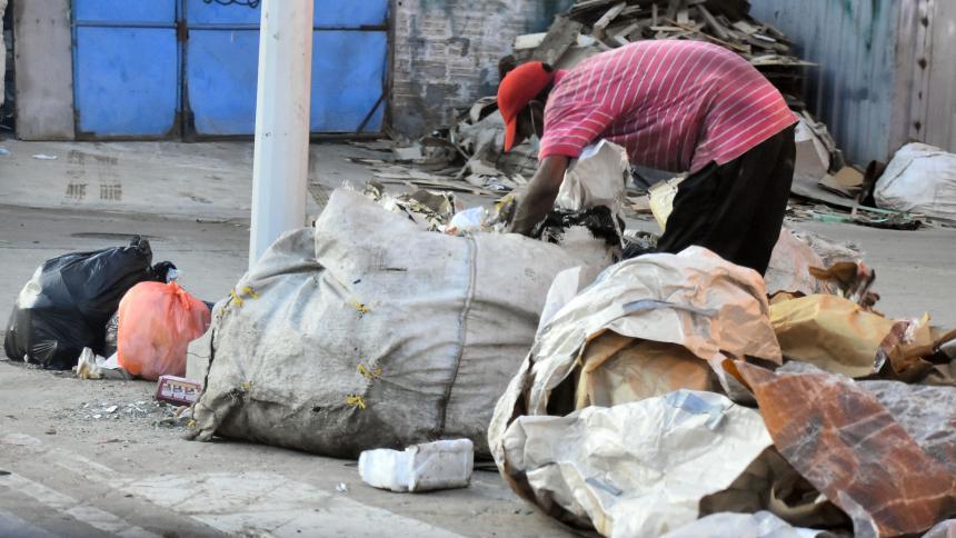 Más del 46% de los habitantes de la calle censados se dedica a comercializar material reciclable.