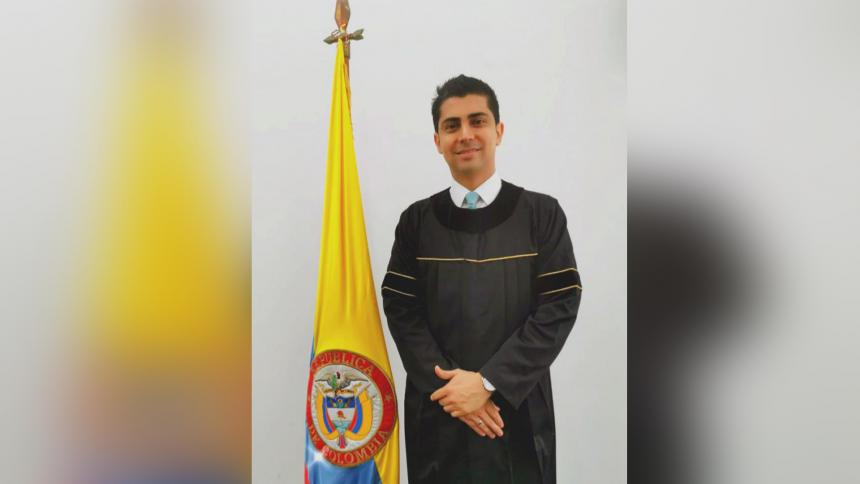 Carlos Pérez Alarcón, presidente de la Sala Penal de Justicia y Paz del Tribunal de Barranquilla.