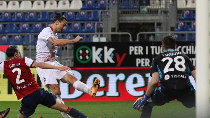 Zlatan Ibrahimovic le dio este lunes un sólido triunfo por 2-0 al Milan.