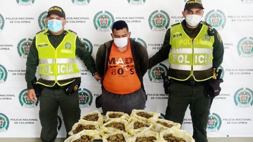 Lo capturaron con 12 kilos de marihuana