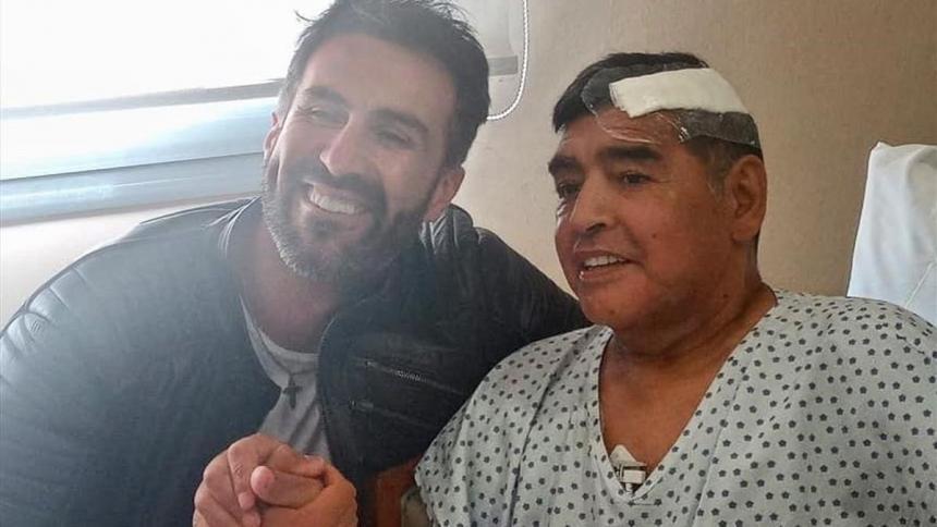 Leopoldo Luque y Diego Maradona.