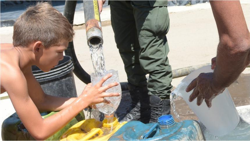 """El agua potable la ven como la mayor """"bendición"""" de sus vidas."""