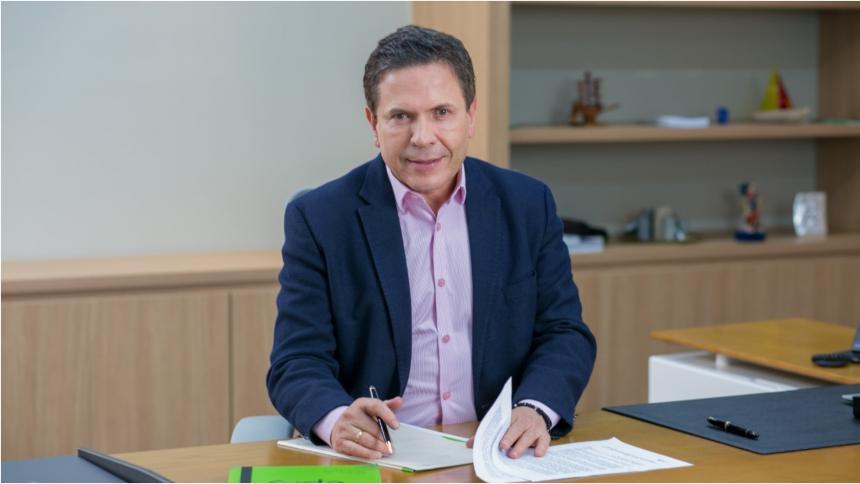 El gerente saliente de EPM, Álvaro Guillermo Rendón.