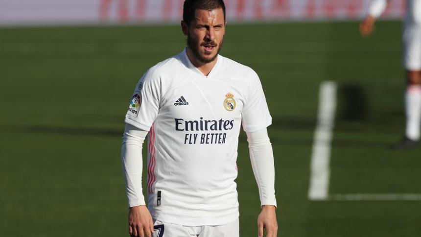 Eden Hazard, centrocampista del Real Madrid.