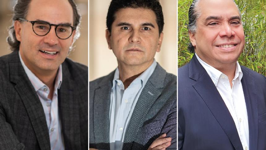 Juan Camilo Nariño, presidente de la Asociación Colombiana de Minería;  Hamyr González, presidente Minera Cobre de Colombia y José Ignacio Noguera Gómez, vicepresidente de Asuntos Corporativos Gran Colombia Gold Corp Canadá.