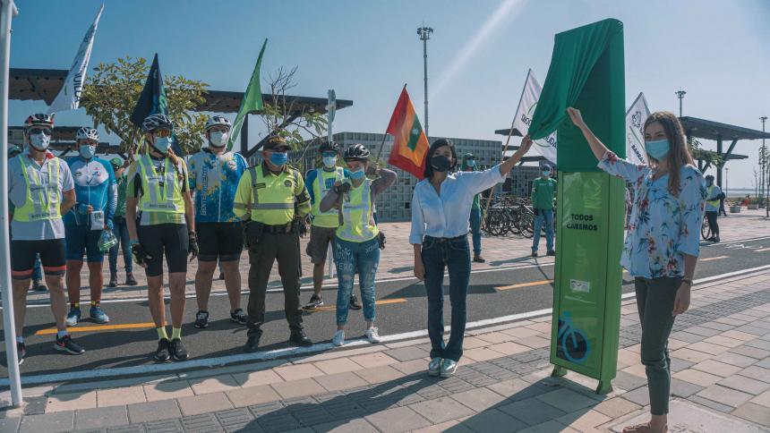 Barranquilla ya cuenta con su primer contador de bicicletas