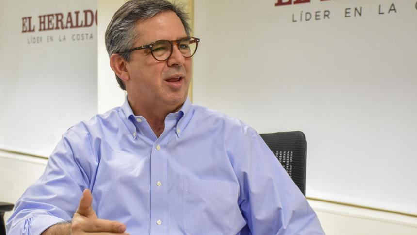 Eric Flesch, presidente de Promigas, en visita a EL HERALDO.