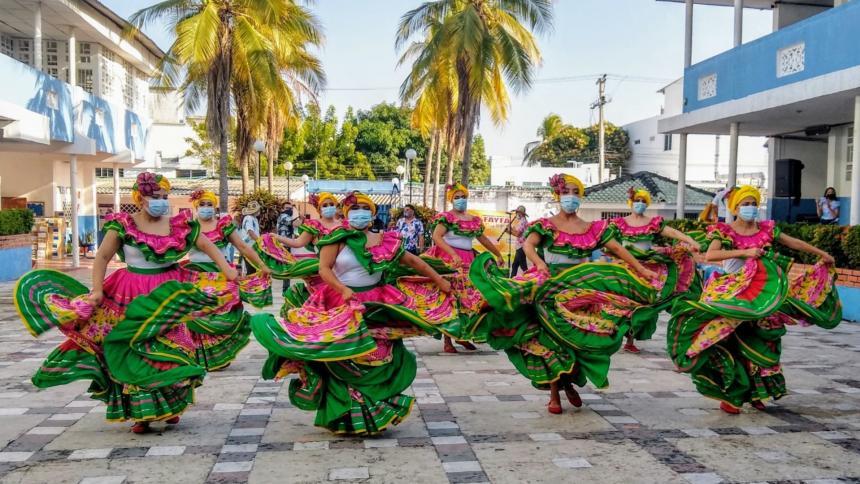 Acto cultural presentado el Martes de Carnaval.