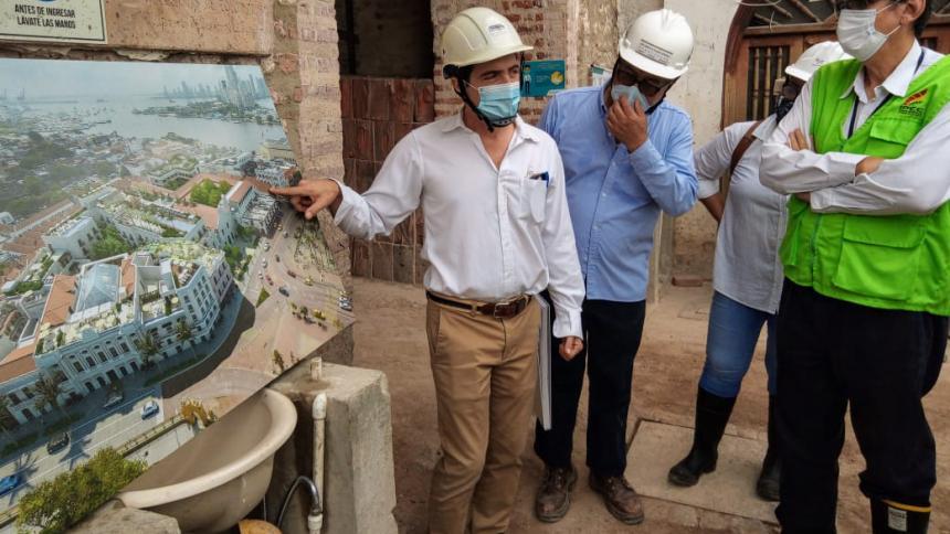 Obras de restauración de 30.000 metros cuadrados en Centro de Cartagena