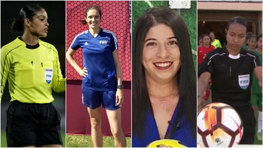 María Daza, Mary Blanco, Nataly Arteaga y Vanessa Ceballos