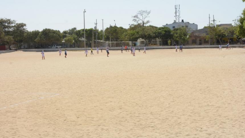 Aspecto de la actual cancha de fútbol La Magdalena, en donde se realizan torneos de fútbol.