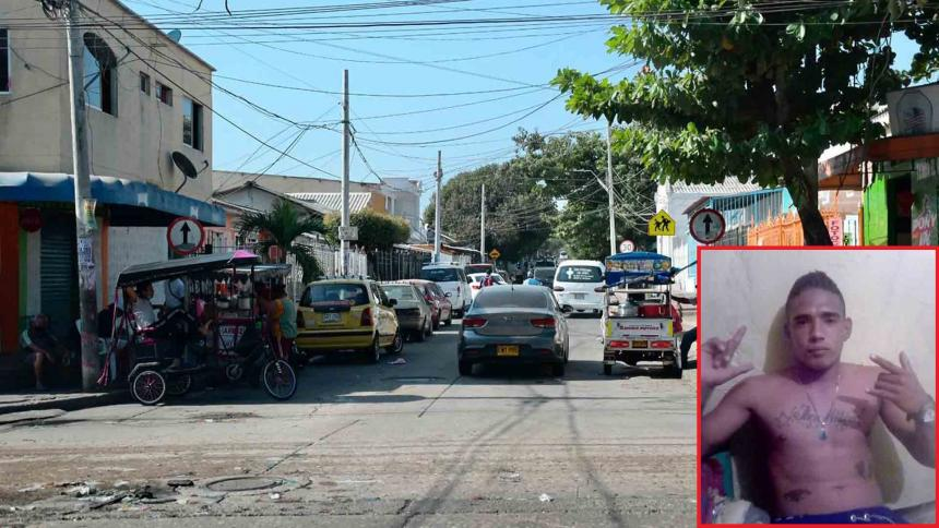 Lugar del barrio San Roque donde ocurrió el crimen. - Jhon Guerra Rangel