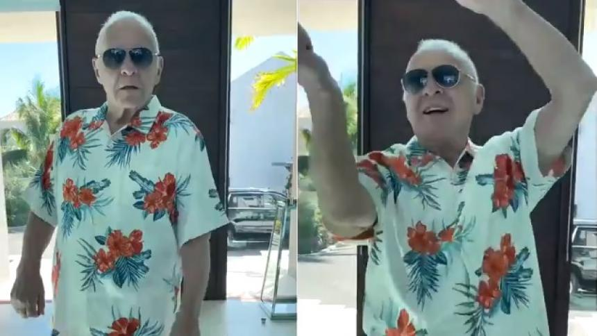 """Anthony Hopkins baila merengue y dice """"soy colombiano"""""""