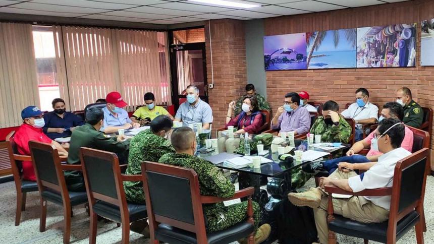 El consejo extraordinario de seguridad cumplido en la sede de la Gobernación de Sucre.