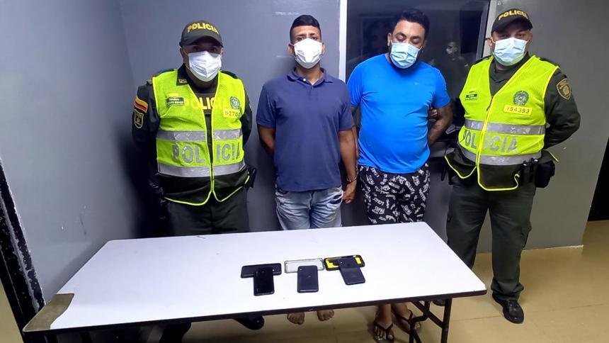 Capturan a presuntos ladrones en el barrio Las Nieves