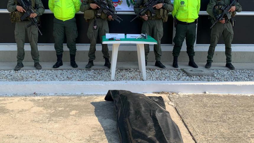Murió en operativo jefe de sicarios de 'Los Pachenca' en Troncal del Caribe