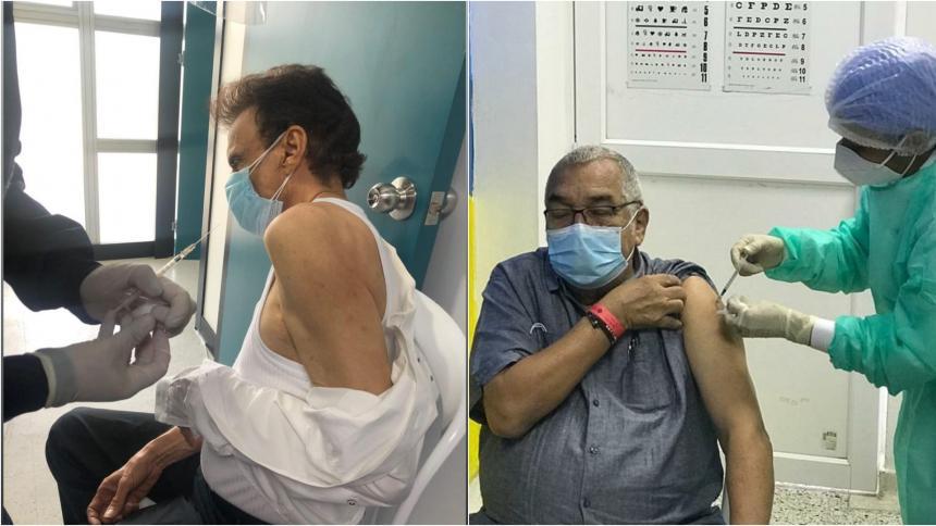 Alci Acosta y Gustavo Gutiérrez se vacunaron contra la covid-19