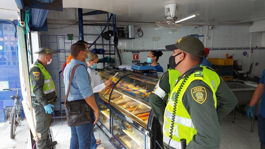 Control a venta de pescado en Santa Marta de cara a la Semana Mayor