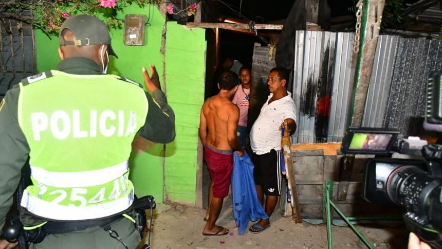 Controles por toque de queda en Barranquilla