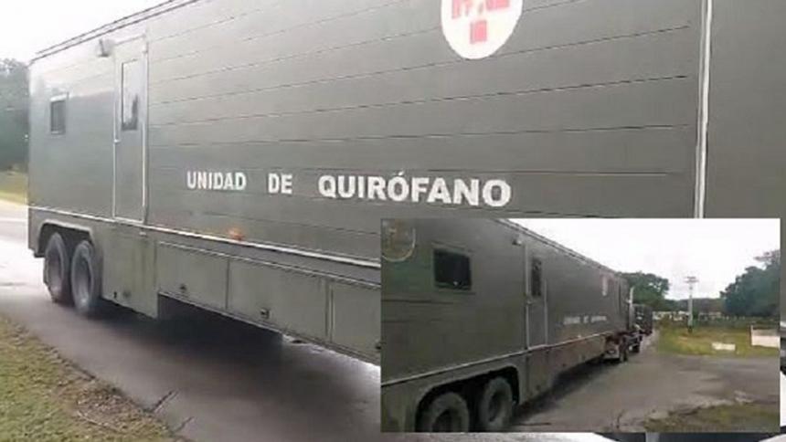 Militares venezolanos envían hospital móvil a zona de combates fronterizos