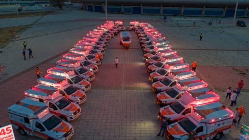 Magdalena adquiere 39 nuevas ambulancias para la pandemia