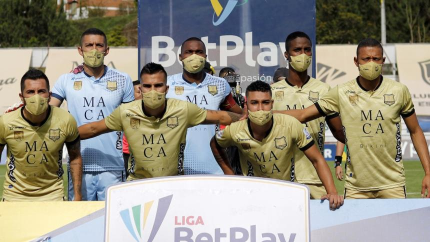 Águilas jugó con siete jugadores ante Chicó