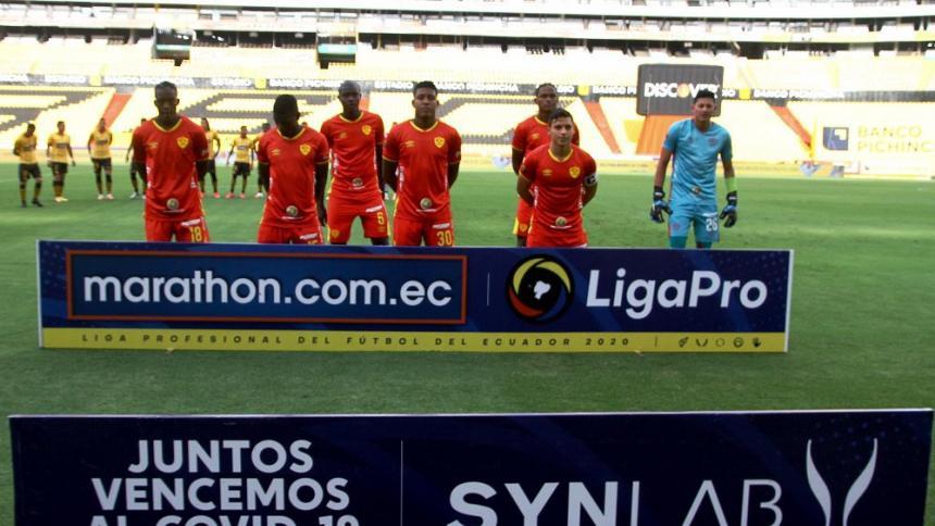 Aucas de Ecuador juega con siete jugadores ante Barcelona en la Liga pro