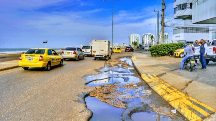 Cartagena busca reparar 11.54 km de malla vial