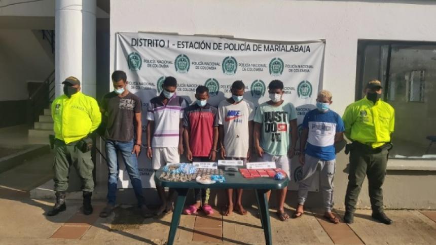 Capturan a seis señalados de microtráfico en Bolívar