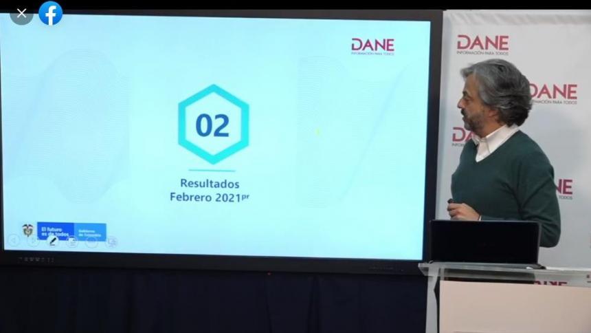 Dane reportó caída en el  informe anual del mes de febrero