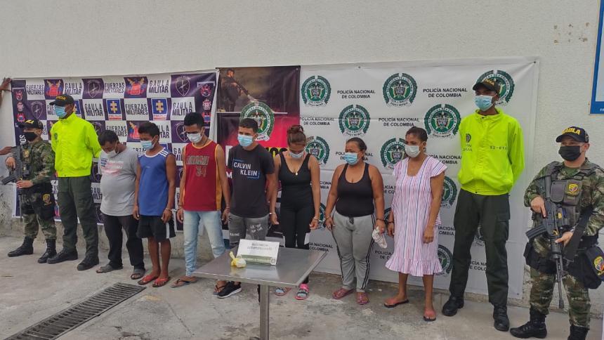 Capturan a siete personas dedicadas al microtráfico en La Guajira