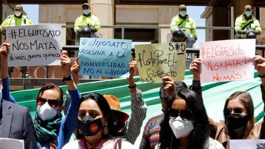 Reúnen firmas para impedir fumigación aérea de coca en Colombia
