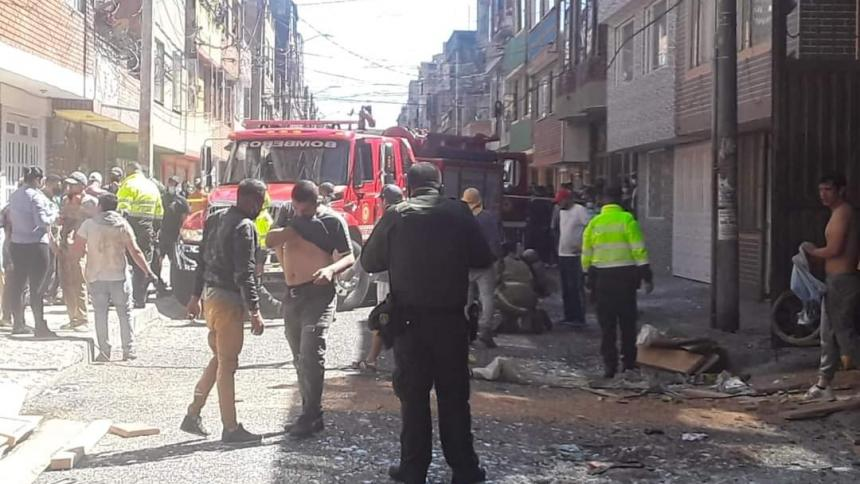 Explosión en Bogotá: un muerto y 13 casas afectadas