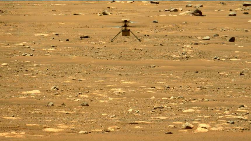 Helicóptero Ingenuity realiza con éxito su segundo vuelo en Marte