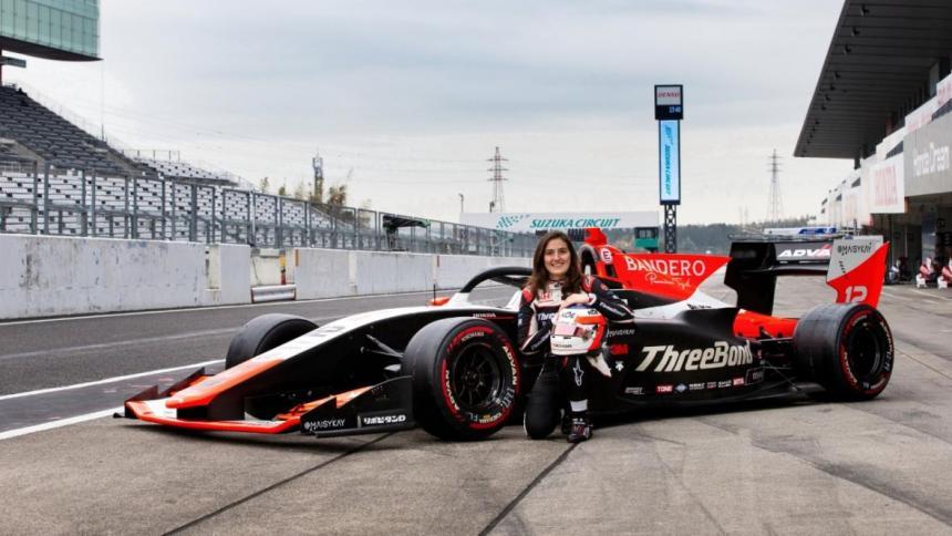 Tatiana Calderón finaliza la carrera en Suzuka