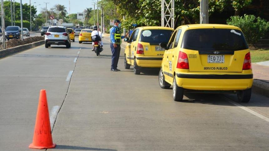 Desde ese lunes, nuevo pico y placa para taxis en Cartagena