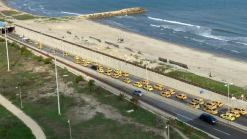 Marcha de taxistas en la región Caribe
