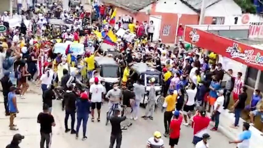 Alcalde de Malambo respalda marcha pacífica en el municipio