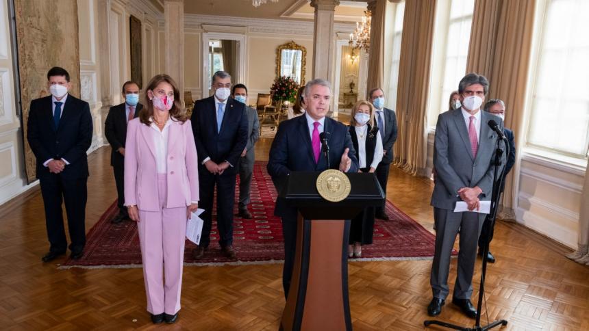 Declaración del Presidente tras encuentro con representantes de altas cortes