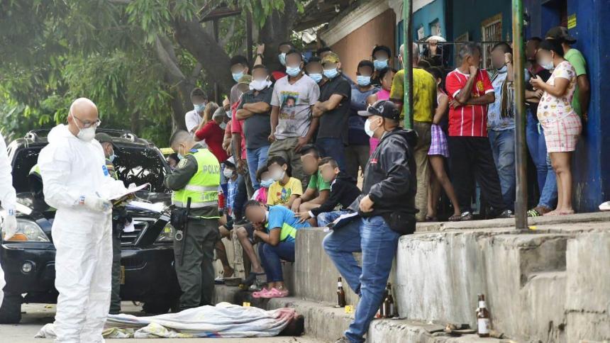 Ataque sicarial deja un hombre muerto en el barrio Montes