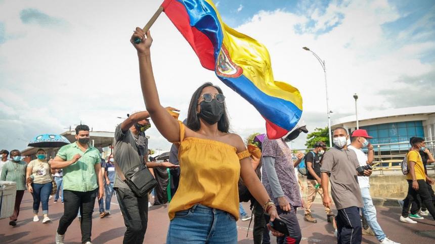 Piden al Esmad no lanzar gases lacrimógenos en marchas en Cartagena