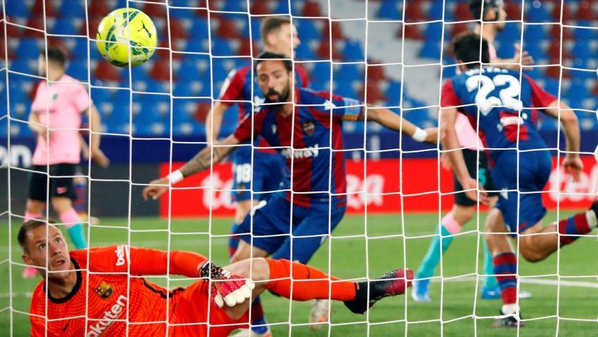 El Barcelona se deja dos puntos y puede que LaLiga ante el Levante