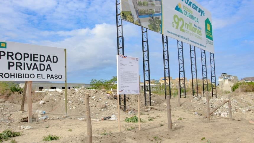 Cierran lotes en Santa Marta para prevenir basureros a cielo abierto