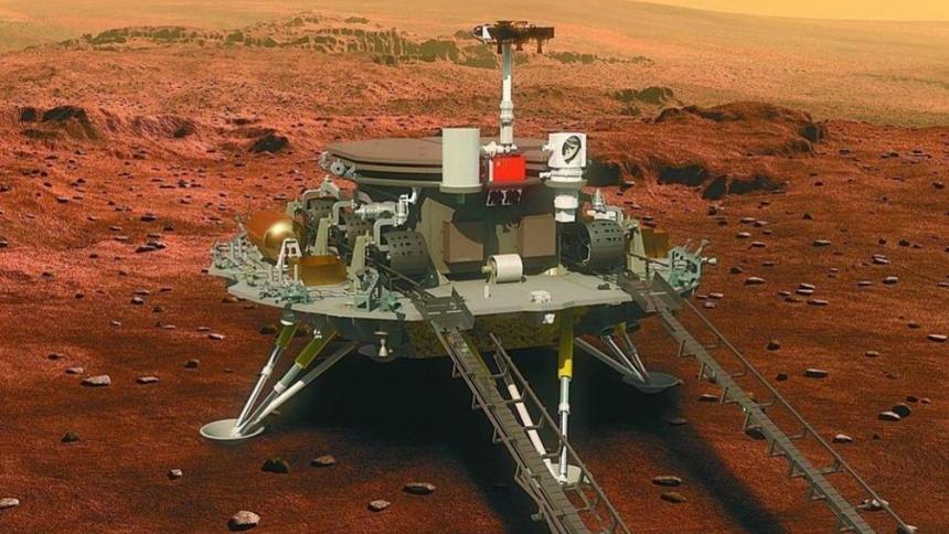 China logra posar un vehículo en Marte en su primera misión