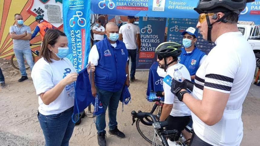 Reactivan Puntos Seguros para Ciclistas en Atlántico