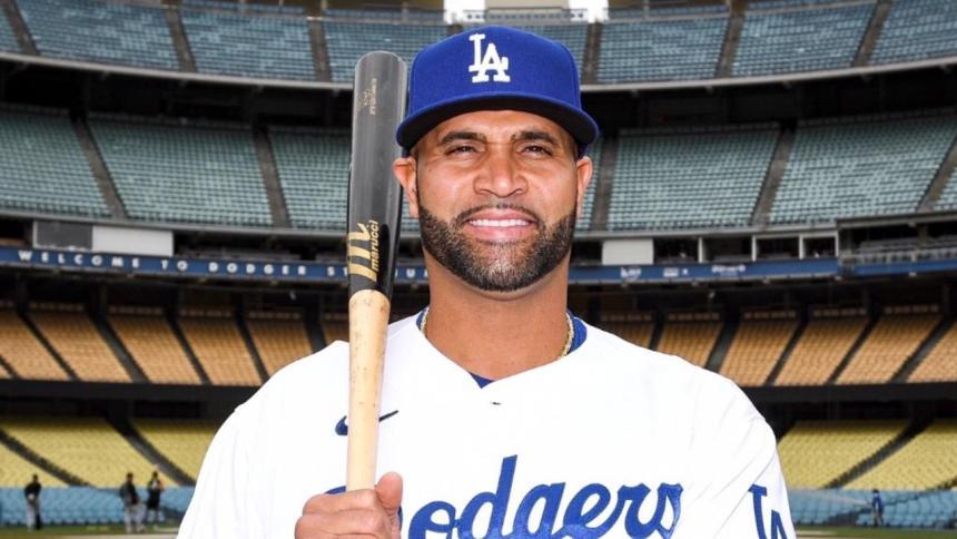 Albert Pujols fue presentado como jugador de Dodgers