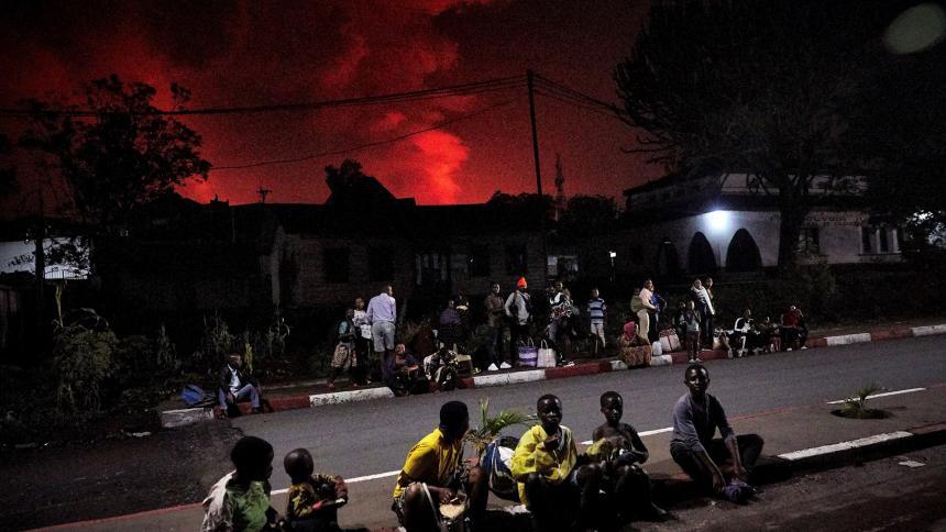 Volcán Nyiragongo de la República Democrática del Congo entra en erupción