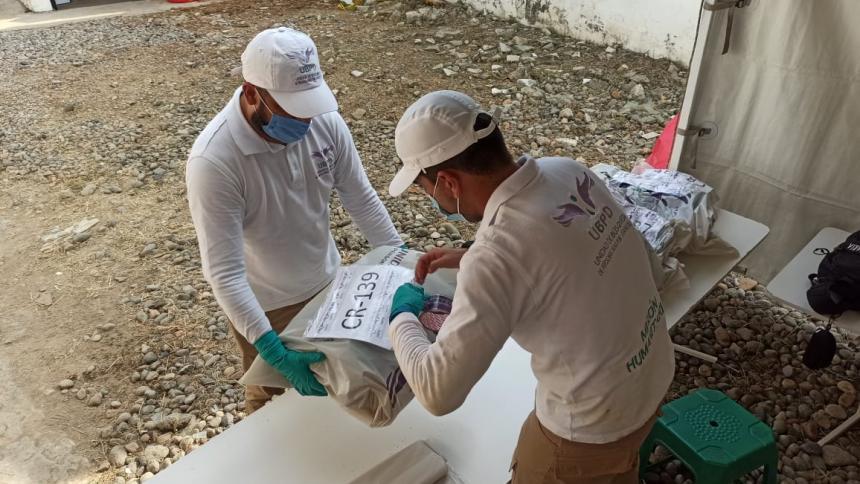 Recuperan 43 cuerpos de posibles víctimas del conflicto